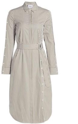 Akris Punto Stripe Poplin Shirtdress