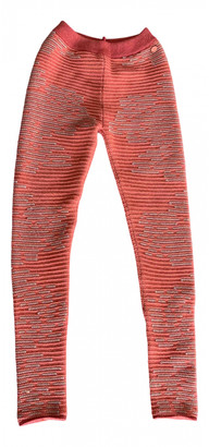 Chanel Orange Cashmere Trousers for Women