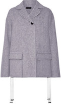 Joseph Caplan Split-side Wool And Cashmere-blend Coat - Light gray