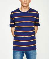 Wrangler Rider Short Sleeve T-shirt Stripe BLue