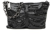 Whiting & Davis Mini Double Shirred Metal Mesh Clutch