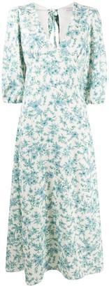 VIVETTA Floral-Print Midi Dress