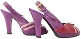 Louis Vuitton Purple Exotic leathers Heels