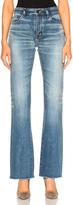 Saint Laurent Cropped Flare Jeans