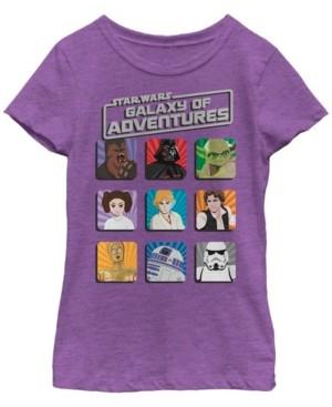 Fifth Sun Star Wars Big Girl's Galaxy of Adventures Main Group Shot G1P Short Sleeve T-Shirt
