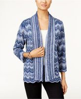 Alfred Dunner Sierra Madre Collection Striped Space-Dyed Cardigan