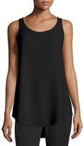 Eileen Fisher Scoop-Neck Georgette Crepe Tank
