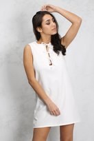 Rare White Lace Up Shift Dress