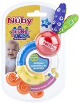Nuby Multi Surface Teether and Rattle - Multicolor - 3+ Months