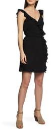 1 STATE Ruffle Trim Wrap Dress