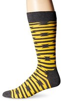 Happy Socks Men's Barb Wire Combed Cotton Crew Socks