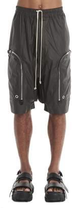 Rick Owens Drawstring Zipped Pocket Shorts