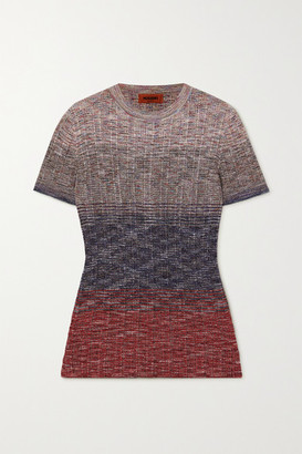 Missoni Degrade Crochet-knit Top - Red