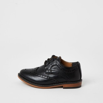 River Island Mini boys Black embossed brogues