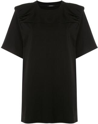 À La Garçonne structured shoulders T-shirt