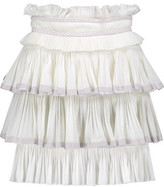 Isabel Marant Goya Tiered Woven Cotton Mini Skirt