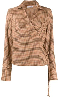 Our Legacy Checked Wrap Blouse