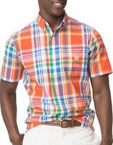 Chaps Short Sleeve Plaid Poplin Shirt