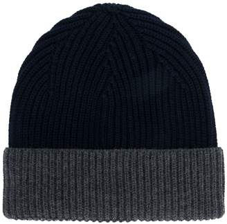 Altea ribbed knit colour block hat