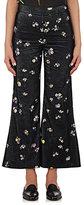 Acne Studios Women's Tyme Floral Cotton Corduroy Wide-Leg Pants