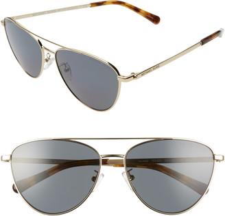 Michael Kors 58mm Polarized Aviator Sunglasses
