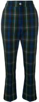MSGM Cropped Tartan Trousers
