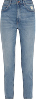 MiH Jeans Mimi Cropped Distressed High-rise Slim-leg Jeans - Blue
