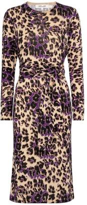 Diane von Furstenberg Gabel leopard-print wool midi dress