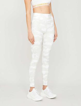 Calvin Klein Camouflage-print stretch-jersey leggings