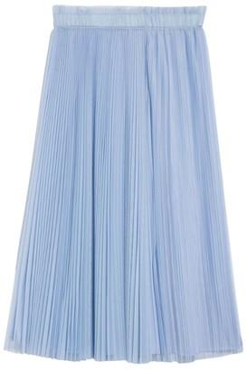 Max & Co. Pleated Tulle Midi Skirt