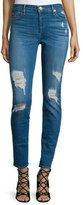 True Religion Halle Super-Skinny Distressed Jeans, Bowie Blue