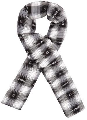 Fragment 7 Moncler Hiroshi Fujiwara - Logo-jacquard Tartan Padded Flannel Scarf - Black White