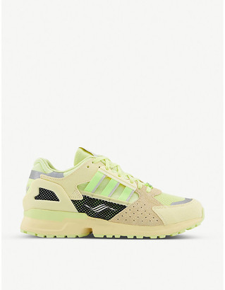 adidas ZX 10,000 mesh and suede low-top trainers