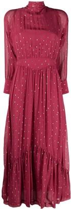 BA&SH Romy polka-dot midi dress