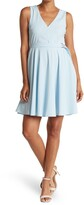 Thumbnail for your product : Lucy Paris Sherry V-Neck Belted A-Line Pocket Dress