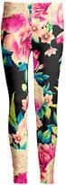 Lily Women's Leggings BLK - Black & Pink Floral Leggings - Women & Plus