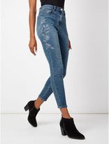 George Embroidered Skinny Jeans