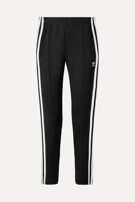 adidas Superstar Striped Stretch-jersey Track Pants - Black