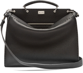 Fendi Peekaboo grained-leather briefcase