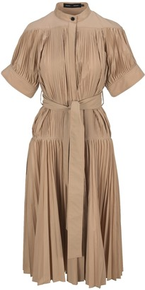 Proenza Schouler Pleated Poplin Belted Dress