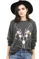 Wildfox Couture My Bolo Tie Kim Sweater in Clean Black