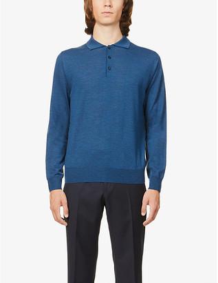 Canali Slim-fit wool polo jumper