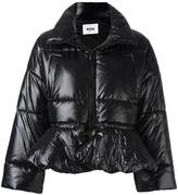 MSGM quilted ruffle hem puffer jacket