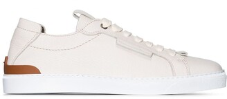 Ermenegildo Zegna Deer Trip stitch leather sneakers