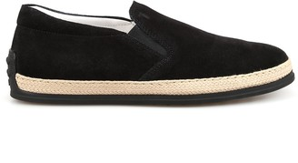 Tod's Suede Slip On Sneakers