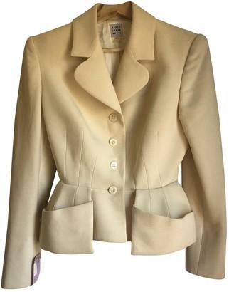 Herve Leger Ecru Wool Jacket for Women Vintage