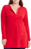 Lauren Ralph Lauren Plus Long Sleeve Jersey Henley Tunic