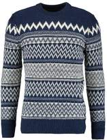 Superdry All Over Chevron Crew Jumper Blue