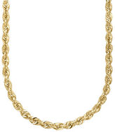 Lord & Taylor 14K Yellow Gold Rope Chain Link Necklace