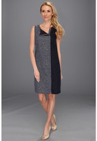 DKNY DKNYC Sleeveless Crewneck Dress w/ Contrast Side Panel